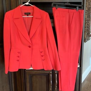 Escada pants suit.  Bright pink